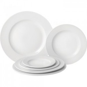 Pure White, Wide Rimmed Plate - available in 6 sizes