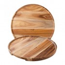 Acacia Wood Round Platter/Pizza Plate 12