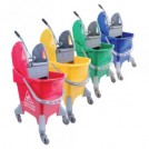25Ltr Ergonomic Top Bucket & Wringer - available in 4 colours
