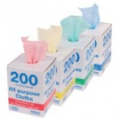 200 All Purpose Cloths in Dispenser Box - available in 4 colours