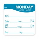 MoveMark Day of the Week Use By Label 51mm x 51mm