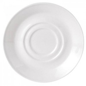 Simplicity White Harmony Double Well Saucer Small Size 11.75cm/4 5/8