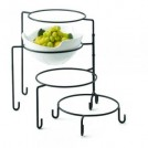Black Powder Coated Metal Four-Tiered Stand